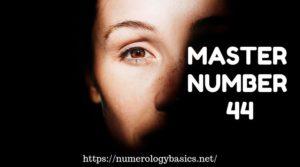 Master number 44