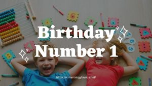 Numerology Birthday Number 1