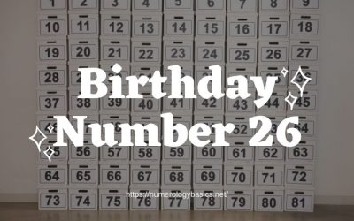 Birthday Number 26 or Gift Number 26