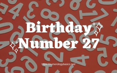 Birthday Number 27 or Gift Number 27